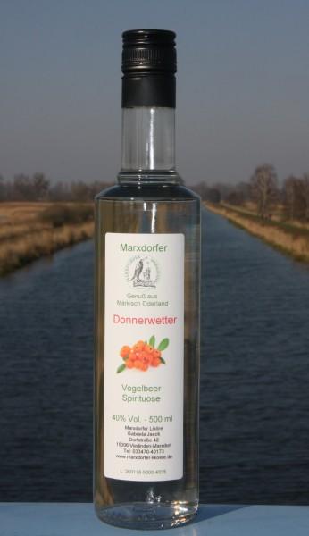 Donnerwetter 40 % Vol. Vogelbeer Spirituose