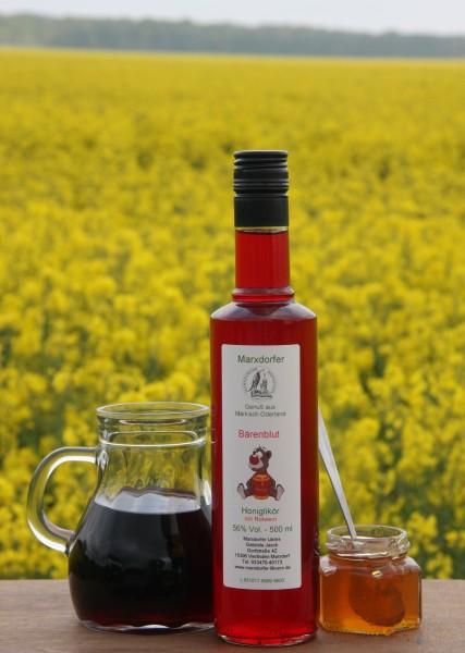Bärenblut 56 % Vol.;Honiglikör m.Rotwein
