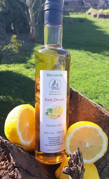 Sööt Zitroon 28 % Zitronenlikör